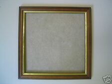 SQUARE Teak/gold 14x14 picture/photo frame WITH GLASS