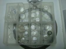 Elgin Waltham half Hunter pocket watch porthole glass lens crystal 13 -17 mm