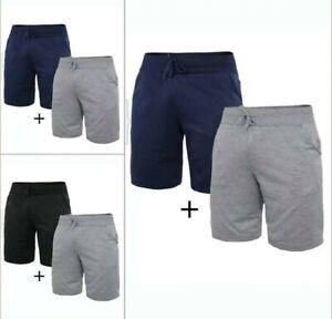 Shorts Uomo 2 pzz  Pantaloncino Tuta Pantalone corto uomo Bermuda Basic m/3xl