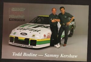 NASCAR Busch/Grand National--Bodine--Kershaw--1995 Large Card Schedule--Unifirst