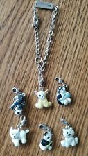 Adorable Webkinz Charm Bracelet and 6 Charms