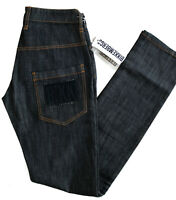 Bikkembergs Damen Slim Straight Fit Stretch Jeans Hose Indigo Denim |W27 - W30