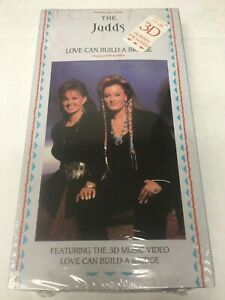 The Judds VHS tape Love Can Build a Bridge sealed w/ 3D glasses