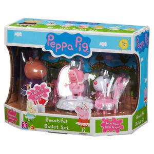Peppa Pig Figures Beautiful Ballet Set Accessories Suzy Sheep Dancing Age 3+