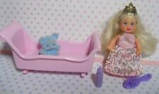 Barbie Baby Krissy crissy Jointed Castle Princess girl Doll Long Hair Crib Set