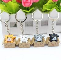X1 Lucky Cats Keyring Chi's Cat Keyring Keychain Car Key Ring Chain Cute Gift