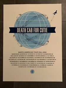 Death Cab For Cutie Poster - 2004 North American Tour
