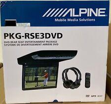 "Alpine PKG-RSE3DVD 10.2"" Overhead Monitor w/2 Headphones New in box"