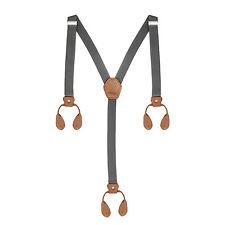 25mm Unisex Mens Elastic Braces Adjustable Trouser Suspender Button Hole Y Shape