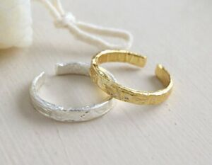 925 sterling silver Stylish Uneven Adjust Fashion Open Ring / Joint / Toe Ring 5