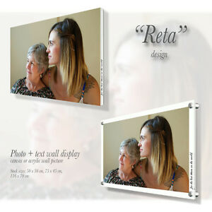 Personalised Canvas / Acrylic wall picture with custom text Gift Present Reta