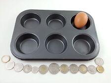 Non Stick Muffin Baking Tray 6 cup cake ovenware craft pan bun tin mould metal