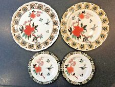 "4 assorted James Kent Old Foley Eastern Glory plates 2 x 7"" 1 x 10"" 1 x 10 5/8"""