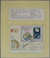 s1143) Raumfahrt Space FDC Ungarn 30.1.69 - Apollo 8 - Autograph OU Frank Borman