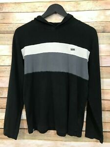 Vans Off The Wall Youth Boys Size L Lightweight Hoodie Sweatshirt Stripes