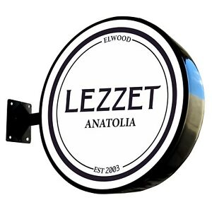 Ø60cm Round LED Light box / Circular Projecting Blade Lightbox Flat Face One Leg
