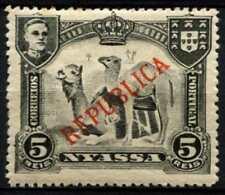 Nyassa Company 1910 SG#54, 5R Dromedaries Optd Republica MH #D63913