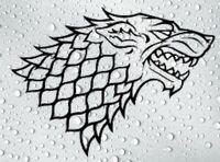 2 x Game Of Thrones Vinyl Sticker for Car Van Window Etc. Laptop