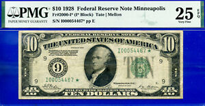 FR-2000-I* - 1928 $10 FRN (( Higly Wanted - Minneapolis STAR )) PMG 25EPQ #467*-