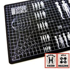Basen Miniaturen Display 40k Quadratischer Ausstellungssockel 4x4 cm Schwarz