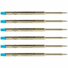 Waterman Blue Ballpoint Ink Refill Medium Point Maxima 6-Refills 834264
