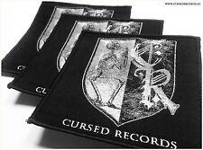 Cursed Records Aufnäher Patch - Austrian extreme metal label since 2011