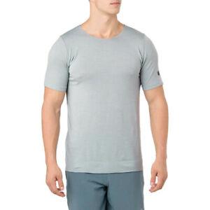 Asics Mens Metarun T Shirt Tee Top Grey Sports Running Breathable Lightweight