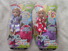 Moxie Girlz Raincoat Color Splash Doll Lot Bryten Avery NRFB