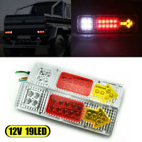 2x LED Waterproof Tail Lights Kit RV Camper Trailer Truck Turn Signal Brake 12V