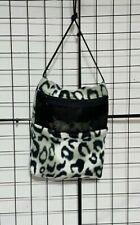Snow Cheetah* 7 x 9 bonding pouch with neck strap
