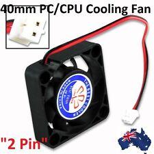 12V 40mm x 10mm 2 Pin PC Cooling Fan CPU Cooler Heat Sink Black High RPM