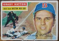 1956 Topps Baseball Card #26 Grady Hatton, Boston Red Sox - VG