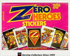 Donruss Zero Heroes Bubble Gum Stickers Box (36 Packs) x 2 Boxes- Rare