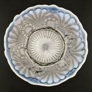Jefferson Tokyo White Opalescent Novelty Low Footed Cake Plate