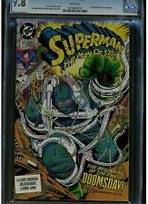 SUPERMAN MAN OF STEEL 18 CGC 9.8 WHITE PAGES 1ST FULL DOOMSDAY 1ST PRINTING 1992