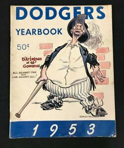 1953 VINTAGE OFFICIAL BASEBALL BROOKLYN DODGERS YEARBOOK JACKIE ROBINSON SNIDER