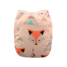 ALVA Clothes Diapers One Size Girl Reusable Washable Pocket Nappy +1Insert Foxes