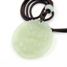 Green Jade Gem Happy Lucky Chinese Zodiac Rabbits Money Coins Amulet Pendant