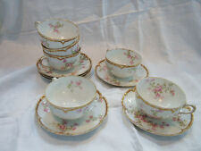Haviland Limoges Schleiger 29k Double Gold 6 Cups and Saucers