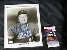 Rusty Staub Autographed Photo JSA Certified