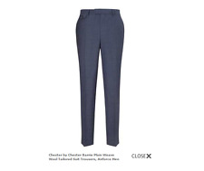 Chester by Chester Barrie Plain Weave Airforce Blue Trousers SIZE 32S RRP £135