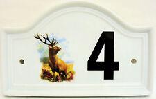 Cervo Numero Di Porta Casa Placca Selvaggio Body Qualsiasi Mano Decorato