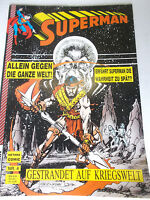 SUPERMAN # 4 Gestrandet auf Kriegswelt ( Hethke 1989 Heft im Großformat )