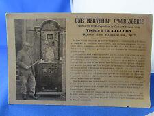 cpa 63 chateldonune merveille d horlogerie jean rivet descombes charpentier