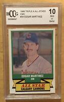 Edgar Martinez Grade 10 Minor League Rookie 1988 CMC #34 BCCG Mint Or Better