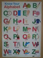 Know Your Alphabet - Educational Poster Wall Chart A, B, C - Z (A2 size)