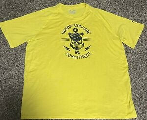 Under Armour USA ARMY NAVY Honor Courage Commitment Loose Shirt Sz Large Mens