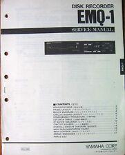 Yamaha EMQ-1 MIDI Disk Recorder Original Service Manual, Schematics, Parts List
