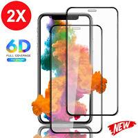 2x 6D Schutzglas für iPhone X XS Max XR Panzerfolie Echt Glas 9H Schutzfolie