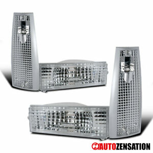 For 1984-1996 Jeep Cherokee Clear Corner Signal Lights+Bumper Lamps Left+Right